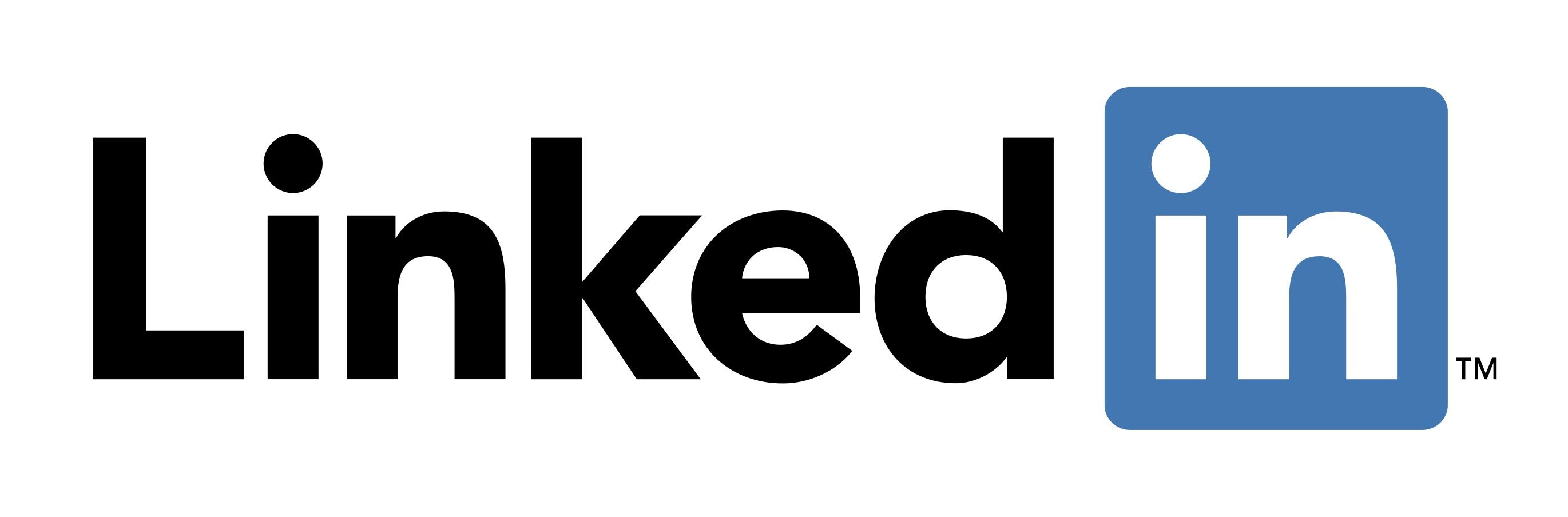 El logo de LinkedIn es un emblema que está