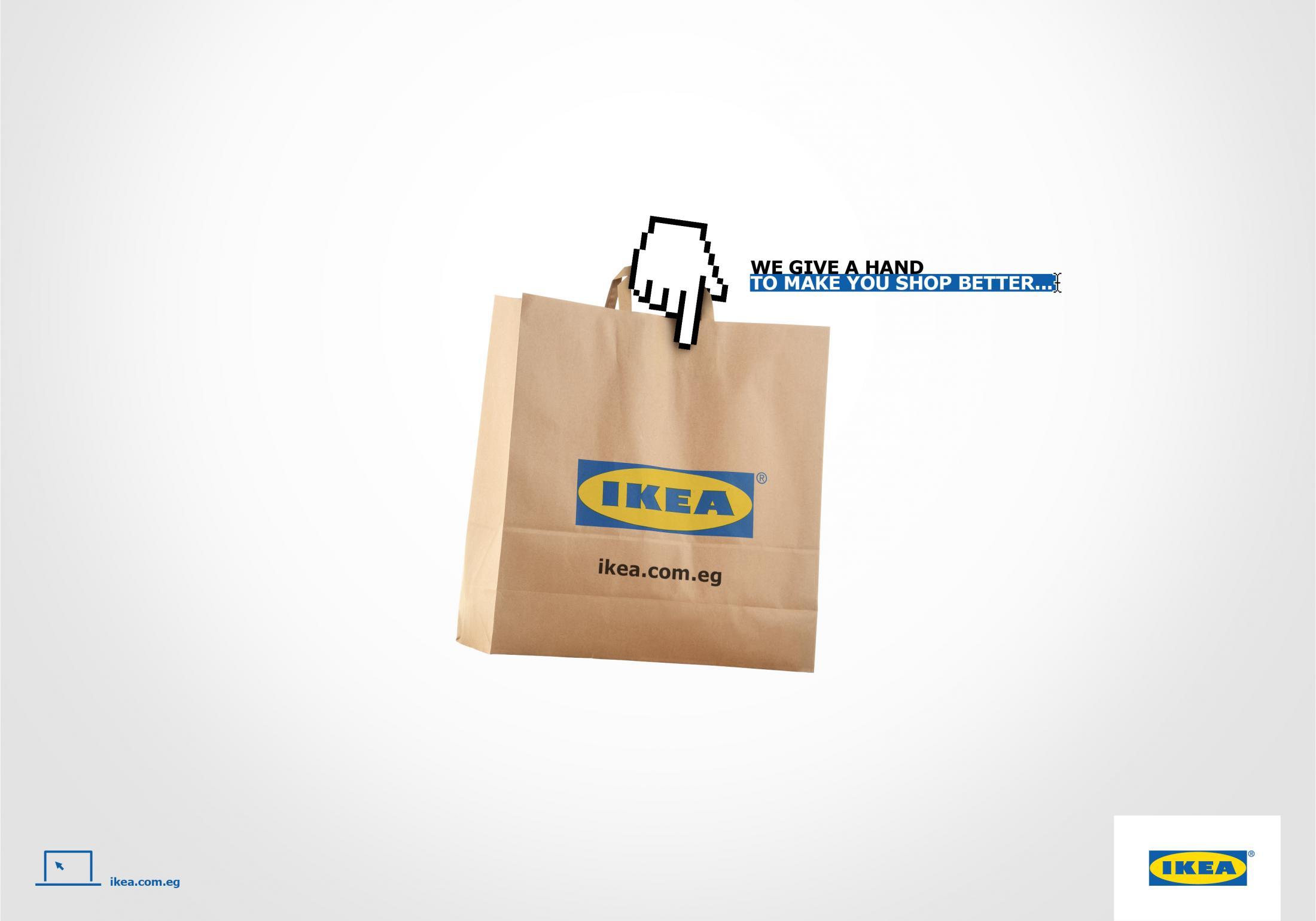 Para impulsar el lanzamiento de la tienda online de IKEA en Egipto se crearon estos tres mensajes publicitarios digitales.