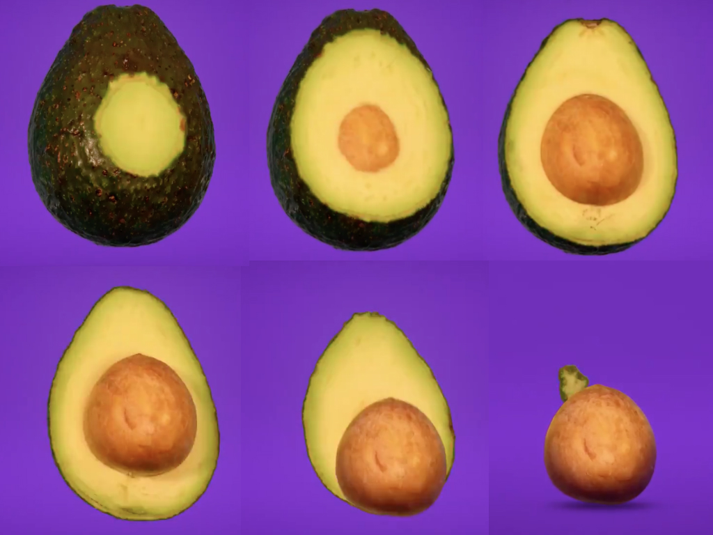 "Este video detrás de cámaras del Stop Motion de Kevin Parry ""Hidden Patterns Inside Fruits and Vegetables"" que muestra el interior de la comida."