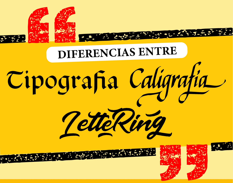 Existen diferencias entreTipografía, CaligrafíayLettering claras entre cada una de ellas, como la personalización, el número de trazos, etcétera.