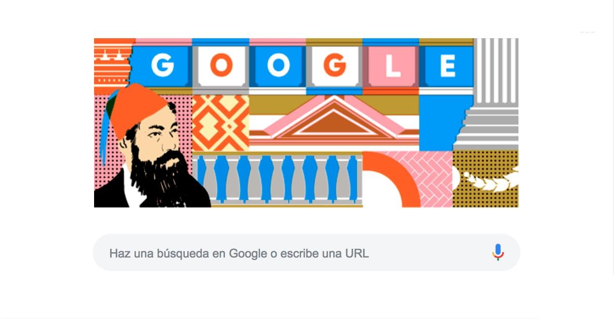 El arquitecto Antonio Rivas Mercado es reconocido por crear la columna de la independencia, hoy en su natalicio Google lo celebra con un Doodle.