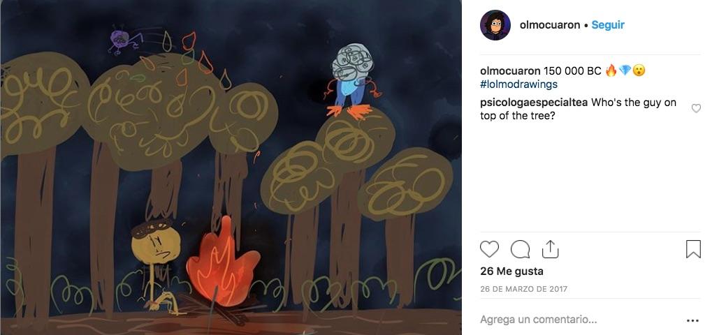 Olmo Cuarón muestra sus dotes artísticas en redes sociales, quién desde el 2015 comparte sus animaciones e ilustraciones que realiza como hobbie.