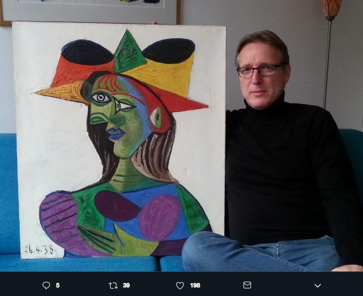 Un Picasso robado en 1999 fue presentado por el detective de arte Arthur Brand, quien le sigue la pista desde 2015, hasta hace unas semanas.