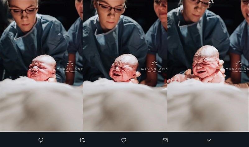 La fotógrafa retrató su propio parto puesto quería ser la que capturara el primer aliento de su hijo. El resultado fue increíble.