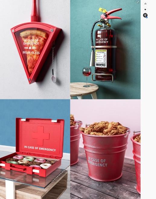 """""""Rómpase en caso de emergencia"""" es un proyecto que con humor muestra la ansiedad de comer cuando ocurre algún tipo de crisis."""