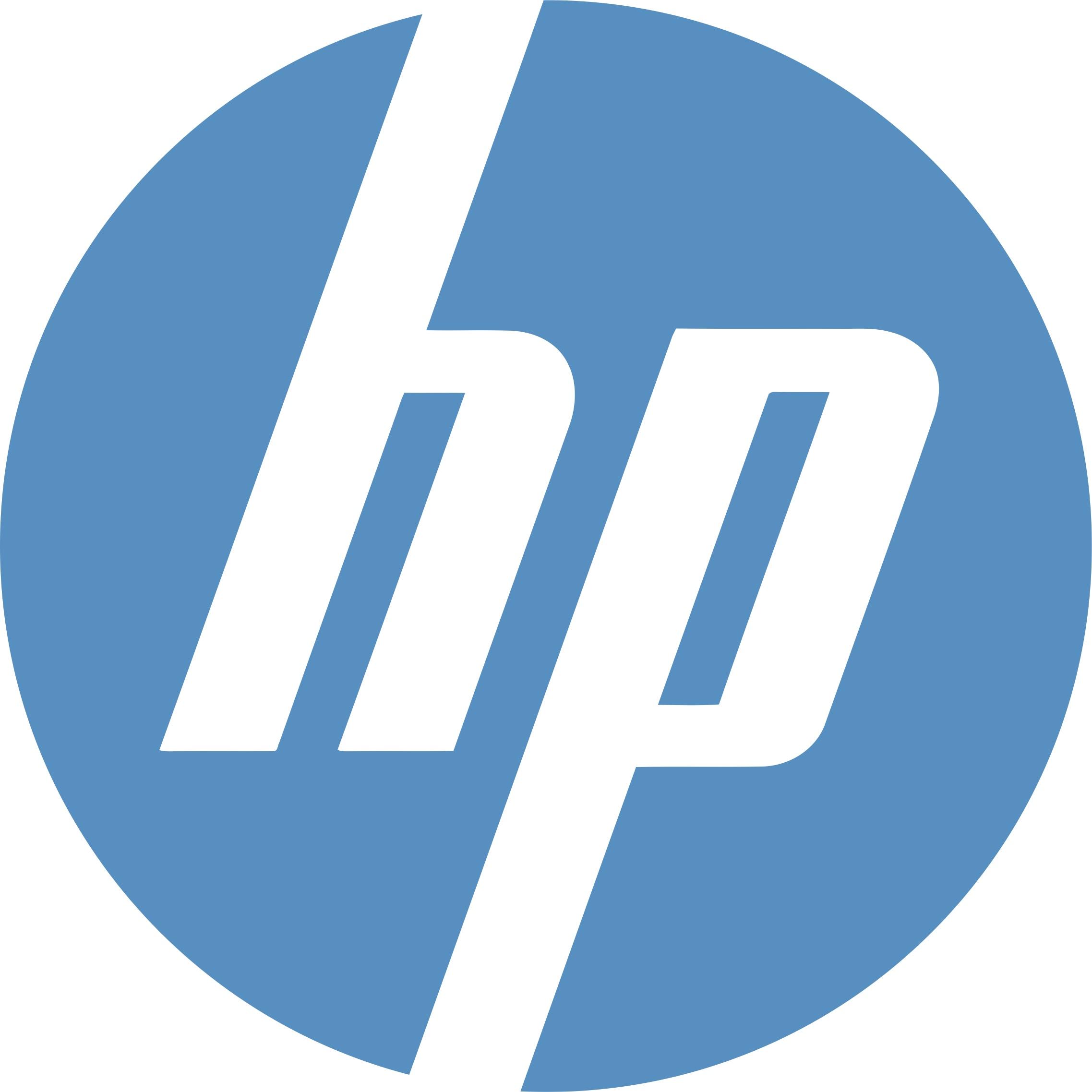 Desde el primer logo de HP, se ha utilizado la fórmula de las letras iniciales de sus fundadores con un estilo alargado y estilizado.