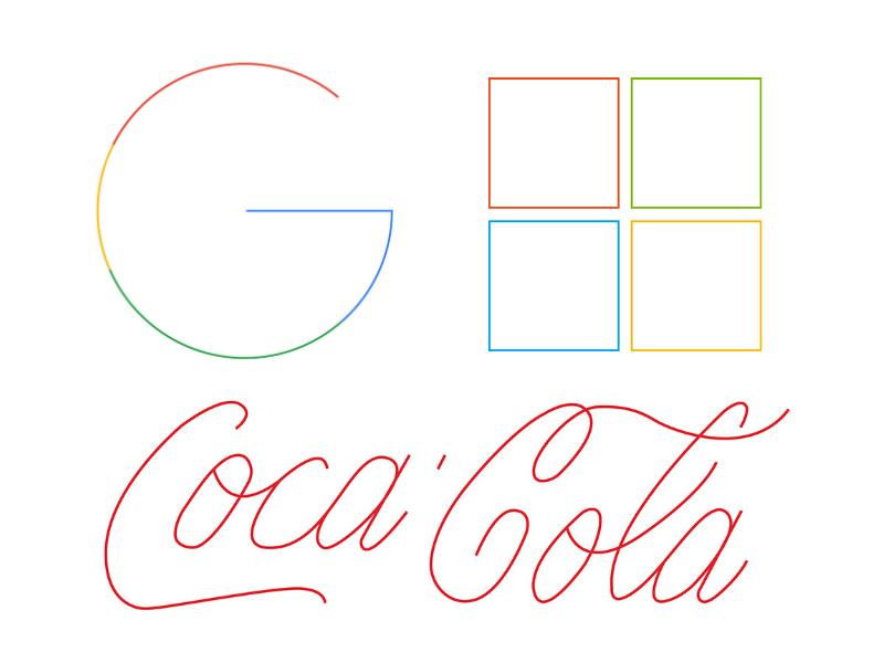 El artista gráfico Edison Krasniqi creó esta versión de logos minimalistas de marcas famosas, la cual es una tendencia actual en el diseño y el branding.