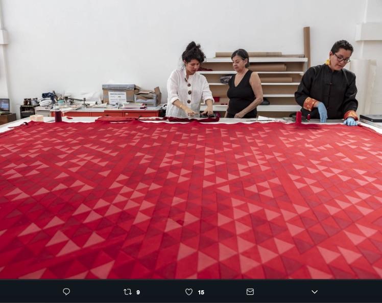Un tapiz de Anni Albers, maestra de la Bauhus, que se creía perdido desde hace 30 años apareció en el Hotel Camino Real de la CDMX.