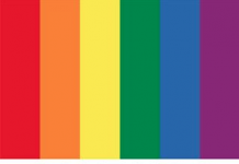 La organización mostró en sus redes sociales los colores Pantone de la bandera LGBT, los cuales están conformados por seis tonos en total.