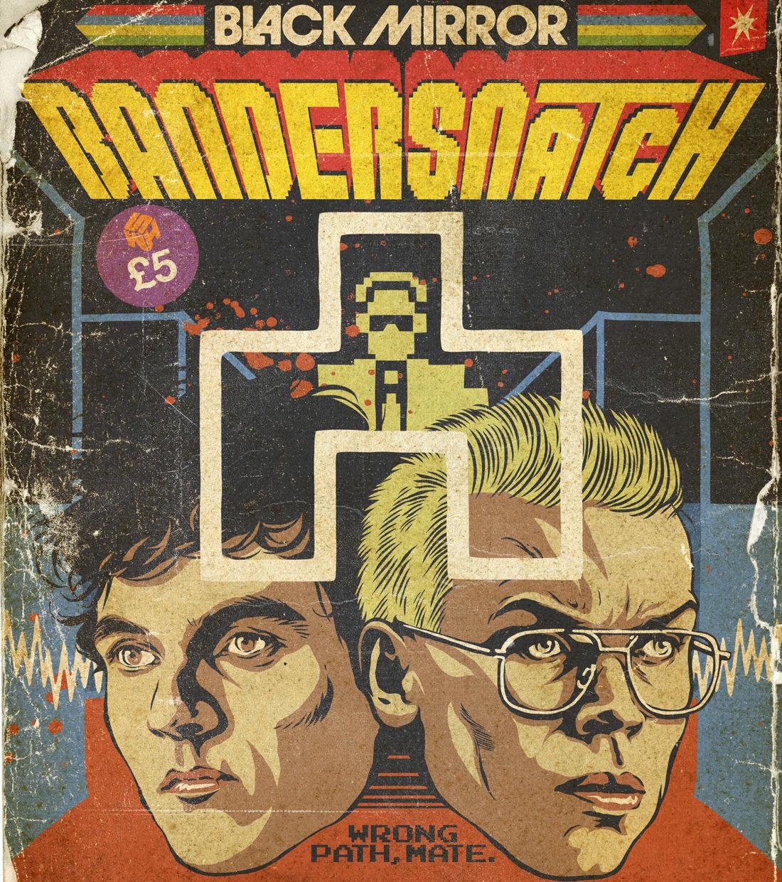 ✅Sin Spoilers✅ Estos carteles de Black Mirror emulan ser cómics, cartuchos de videojuegos y hasta vinilos de música de los años ochenta.