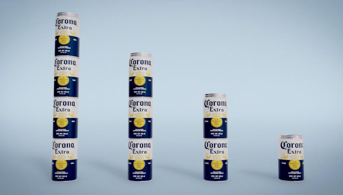 Corona Fit Pack es la campaña mexicana que busca eliminar el plástico en la distribución de sus latas, creando en empaque fácil de apilar y transportar.