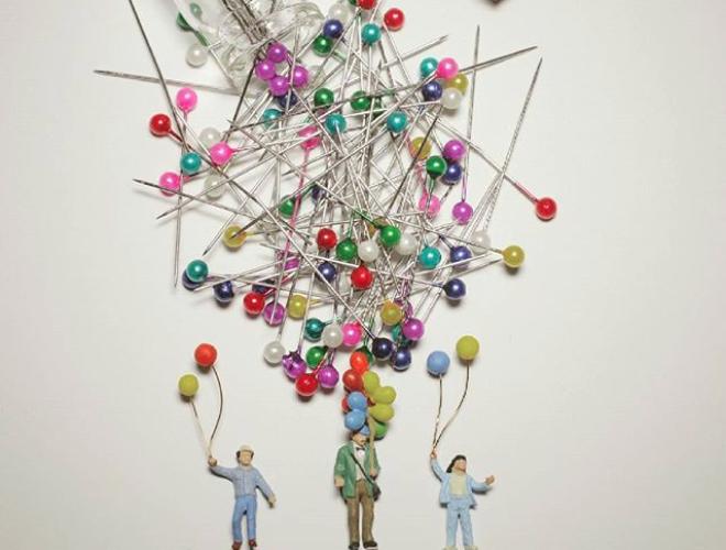 Egoi Suso realiza escenas en miniatura que reflejan algunas tomas de la vida real, sus creaciones son pequeñas pero impresionantes.