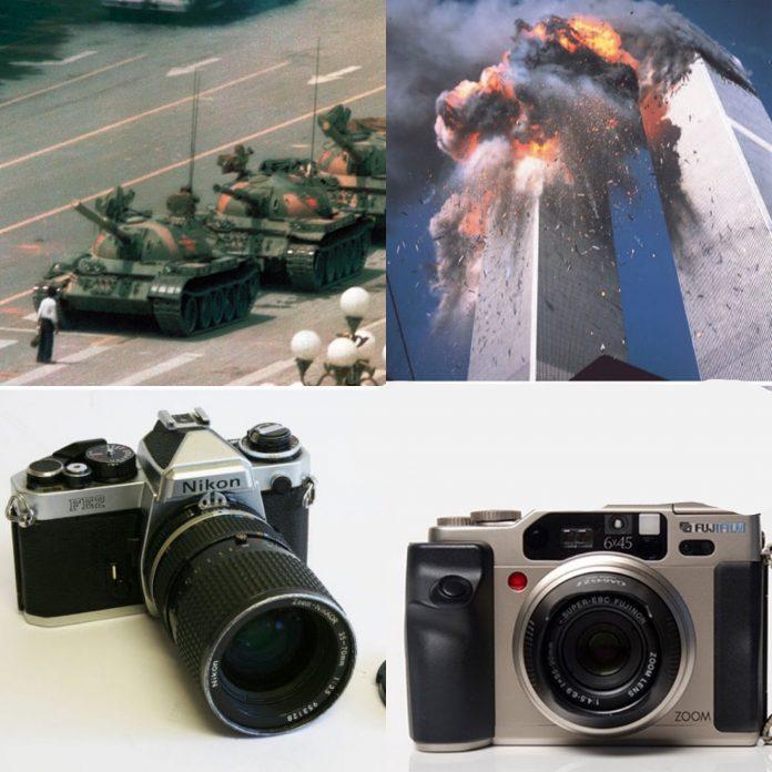 Estas fotografías históricas marcaron a la sociedad, algunas fueron tomadas por profesionales y otras por transeúntes: estas son las cámaras que utilizaron.