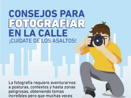 Si sales a tomar fotografías en la calle debes proteger a ti y a tu equipo, sigue estas recomendaciones para evitar accidentes o asaltos.