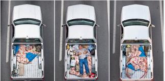 Carpoolers es la serie fotográfica de Alejandro Cartagena que muestra una perspectiva diferente de cómo los trabajadores comparten el auto.