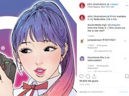 ¿Te imaginas las redes sociales si fueran personas? El ilustrador Sillvi lo hizo posible y además las creó al estilo del anime.
