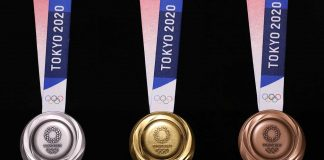Las medallas de Tokio 2020 son completamente sostenibles y recicladas de aparatos tecnológicos viejos, además de un increíble diseño que incluye a Nike.