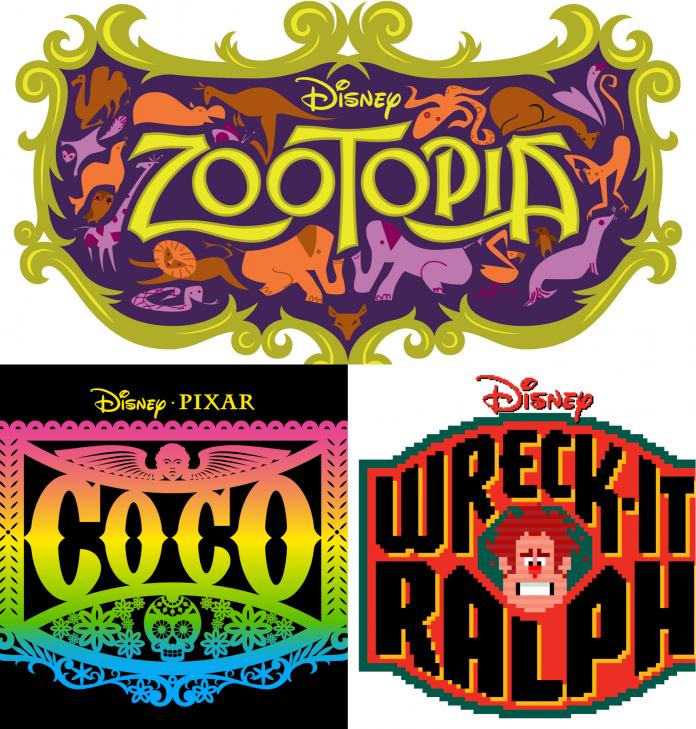 Michael Doret creó algunos de los logotipos de Disney para las últimas películas y donó los bocetos de algunas ideas que no se eligieron.