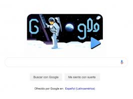 Google publicó un Doodle con un video ilustrativo que celebra el 50vo aniversario de la llegada del primer hombre a la Luna el 20 de julio de 1969.