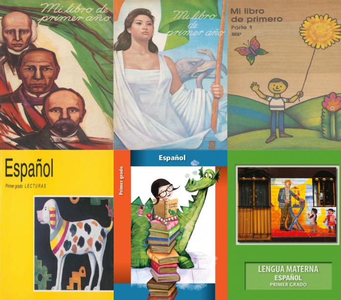Estas son todas las portadas de los libros de texto, desde su primera emisión en 1960 hasta los que se utilizaran este año; en total son 10 ediciones.