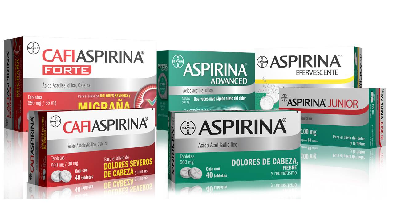 Un nuevo empaque de Aspirina se lanzó recientemente, con el objetivo de facilitar al público la elección del producto más conveniente para su tipo de dolor.