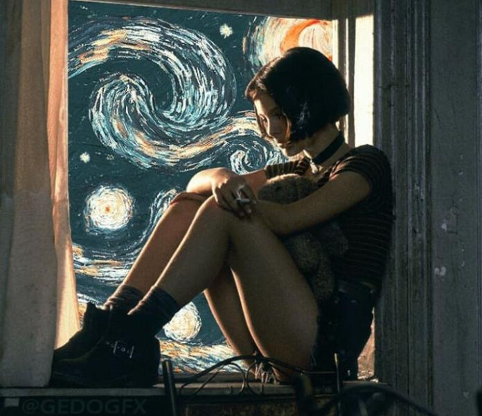 Estas escenas de películas con La Noche Estrellada de fondo hacen que tomen otro sentido totalmente impresionante y artístico.