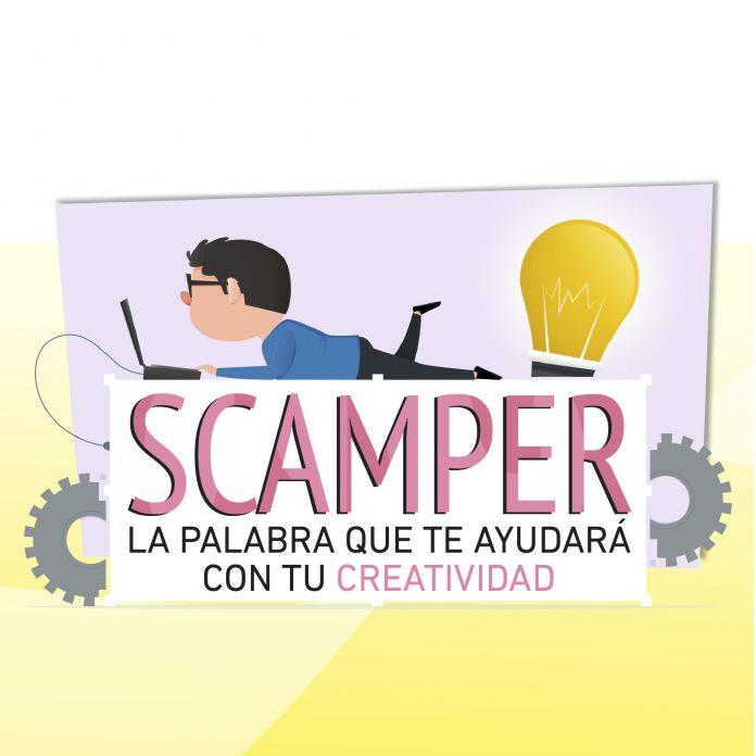 El método SCAMPER es una palabra cuyas siglas te ayudarán a recordar distintas preguntas que puedes hacer para ayudar a desarrollar nuevos proyectos.