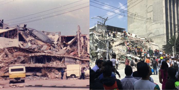 Los terremotos del 19 de septiembre de 1985 y 2017