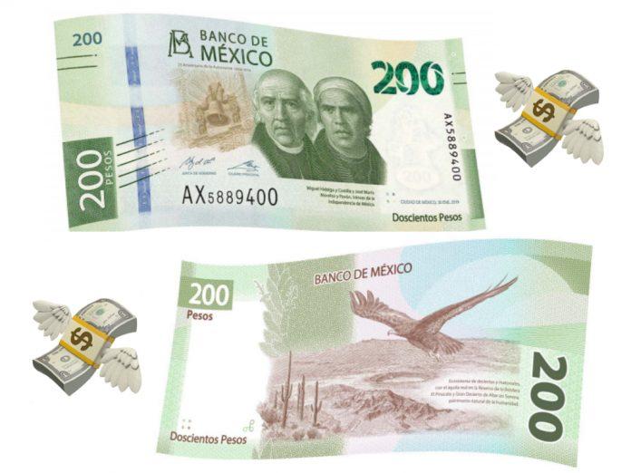 El nuevo billete de 200 pesos aún es verde y ya está en circulación, pero desapareció la