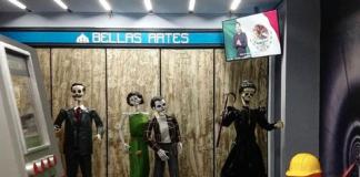 ¡Calacas a la obra! es la ofrenda del Museo Dolores Olmedo de este año, la cual rinde tributo a la arquitectura y construcciones emblemáticas de la CDMX.