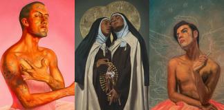 """Fabián Cháirez es el artista que está en el ojo crítico de la sociedad por su obra """"La Revolución"""" en la que retrata a un Zapata entaconado y desnudo."""