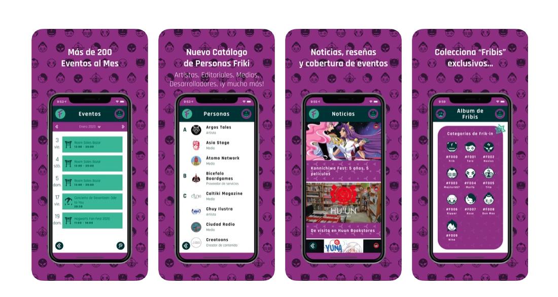 Frik-In es una app friki que reúne recomendaciones de lectura, eventos, noticias, actualizaciones, etcétera y lo mejor es que su diseño es único.