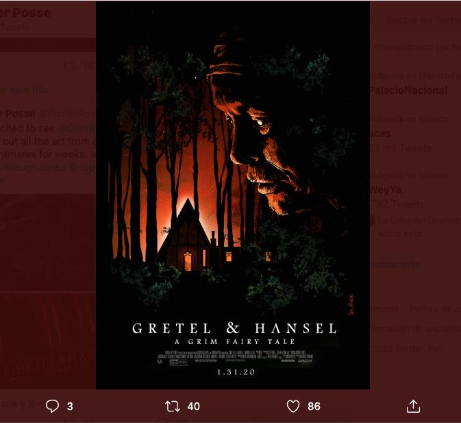 Pósters alternativos Gretel and Hansel