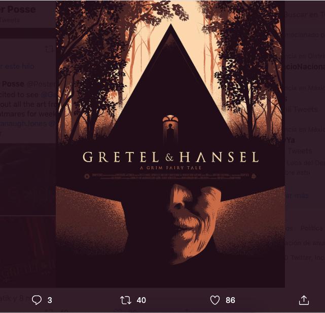 Pósters alternativos Gretel and Hansel 2