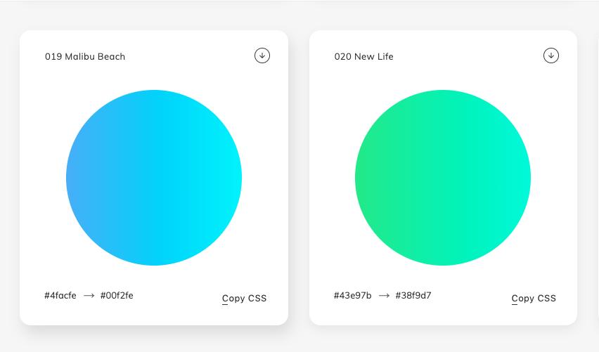 herramientas web degradado de colores