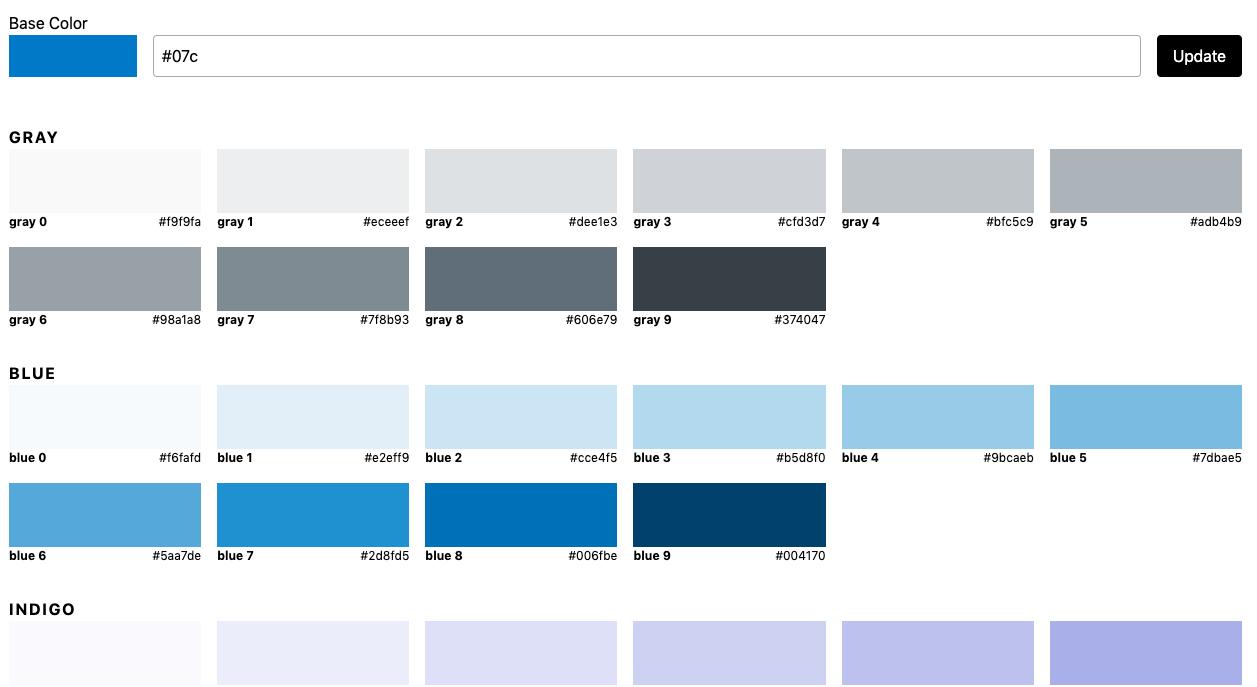 Herramientas UI paletas de colores