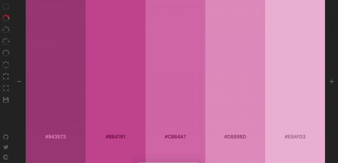 herramientas paletas de colores