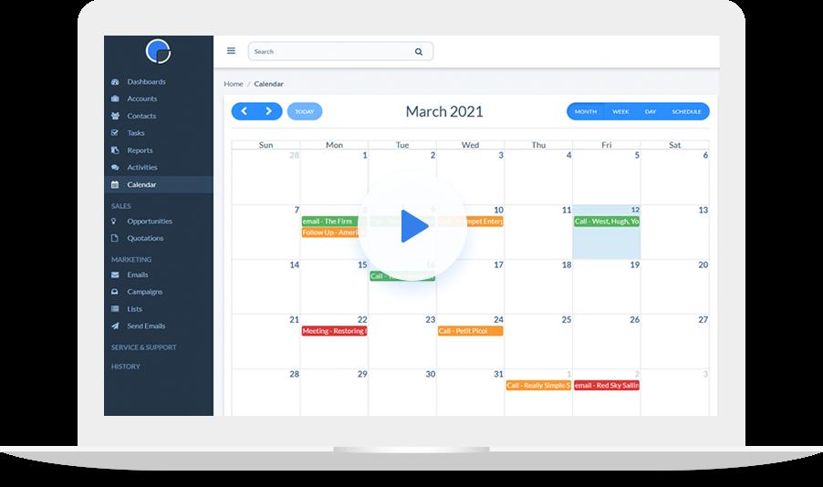 CRM Calendar Video