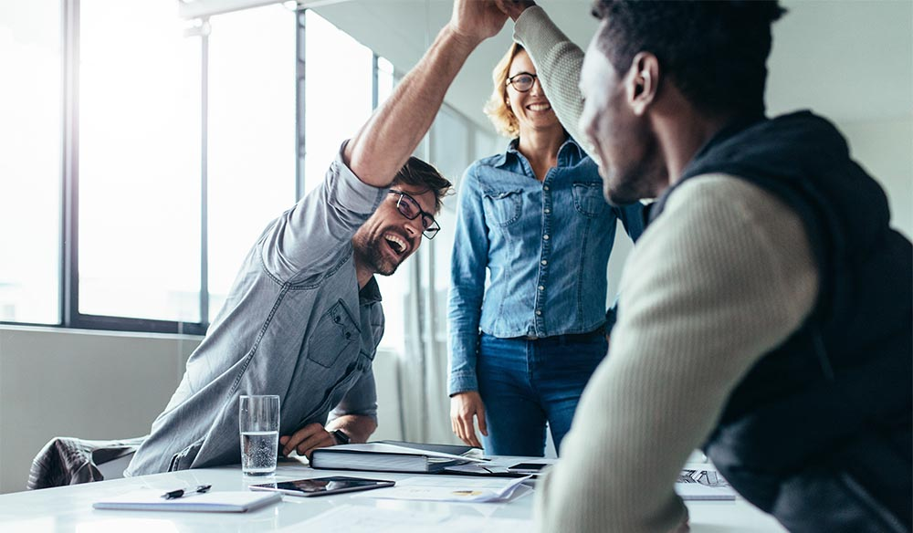 Career in Sales - celebrate a win