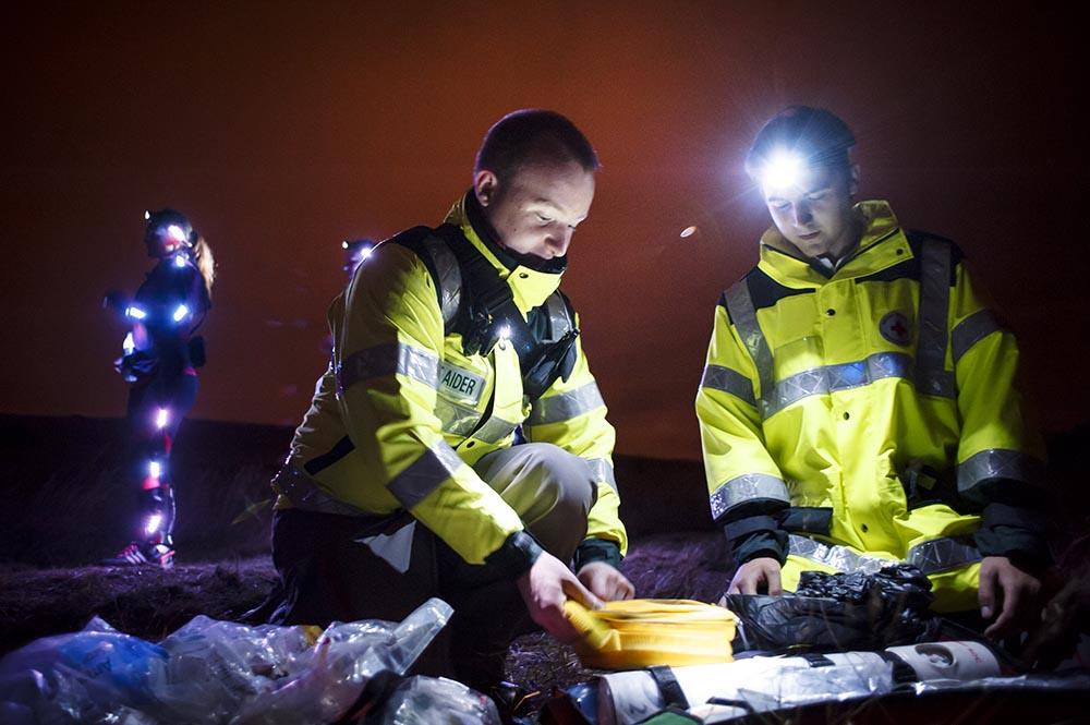 British Red Cross Field Event at Night