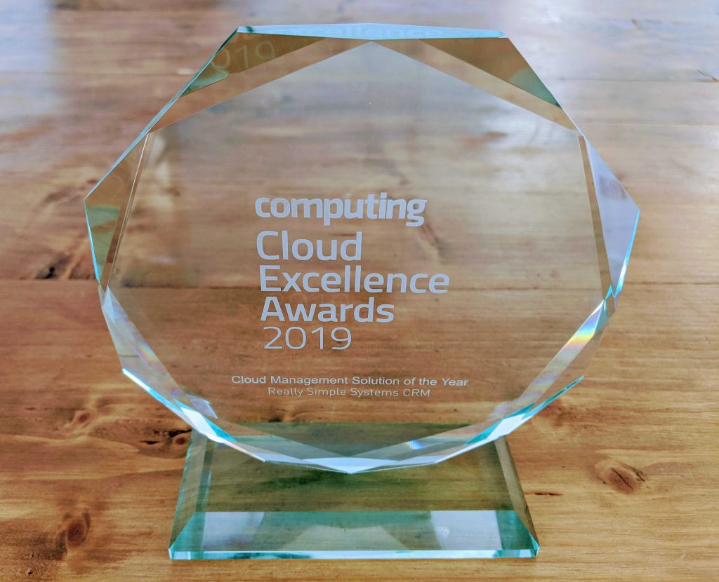 Cloud Excellence Awards Trophy