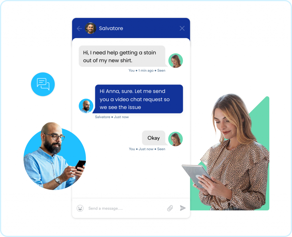 Live chat for better customer support