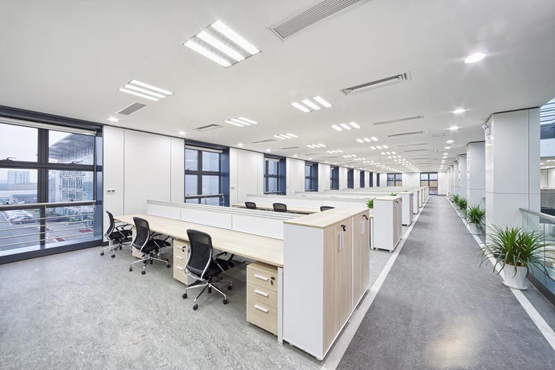 Office with low energy lighting
