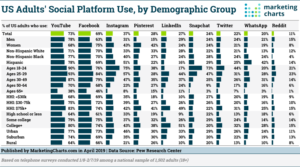 Social Platform Use by Demographic