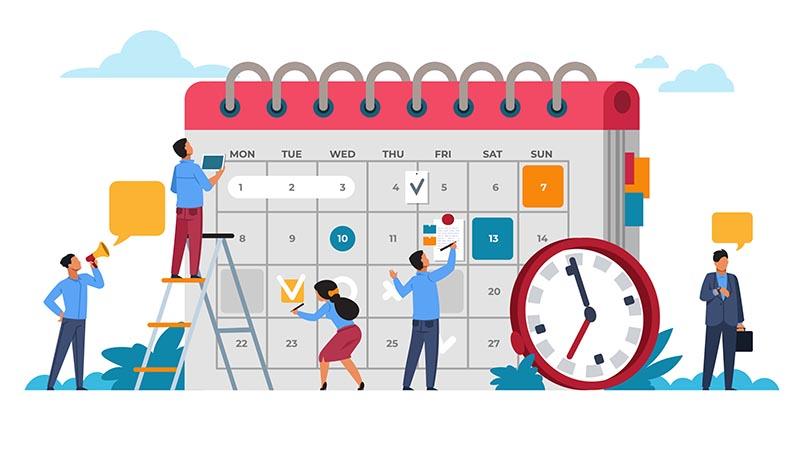 Scheduling for hybrid work model