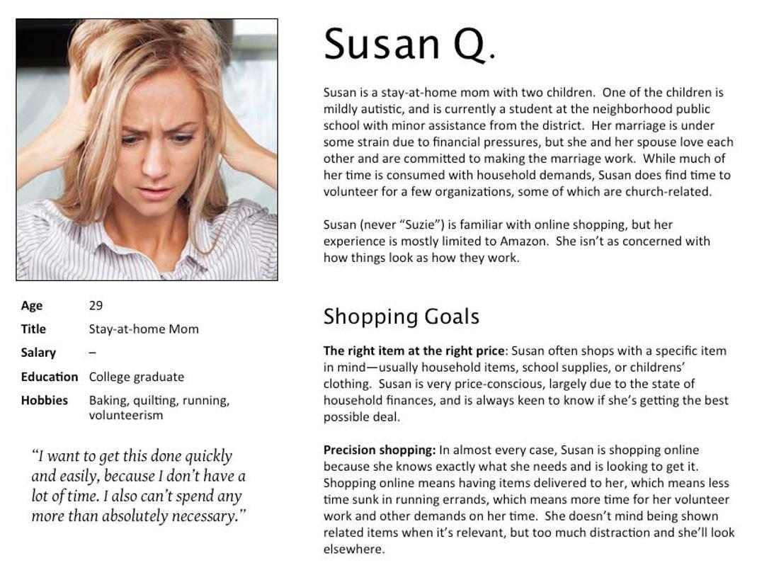 Customer profiles: UX Mastery