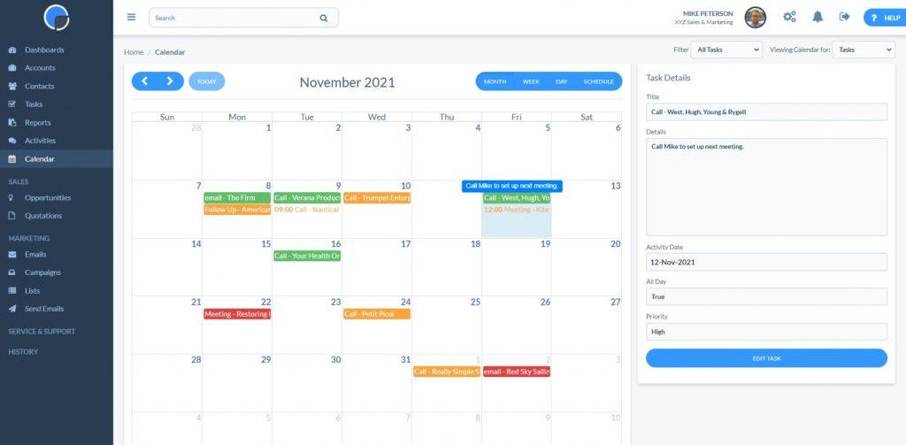 Tasks Calendar