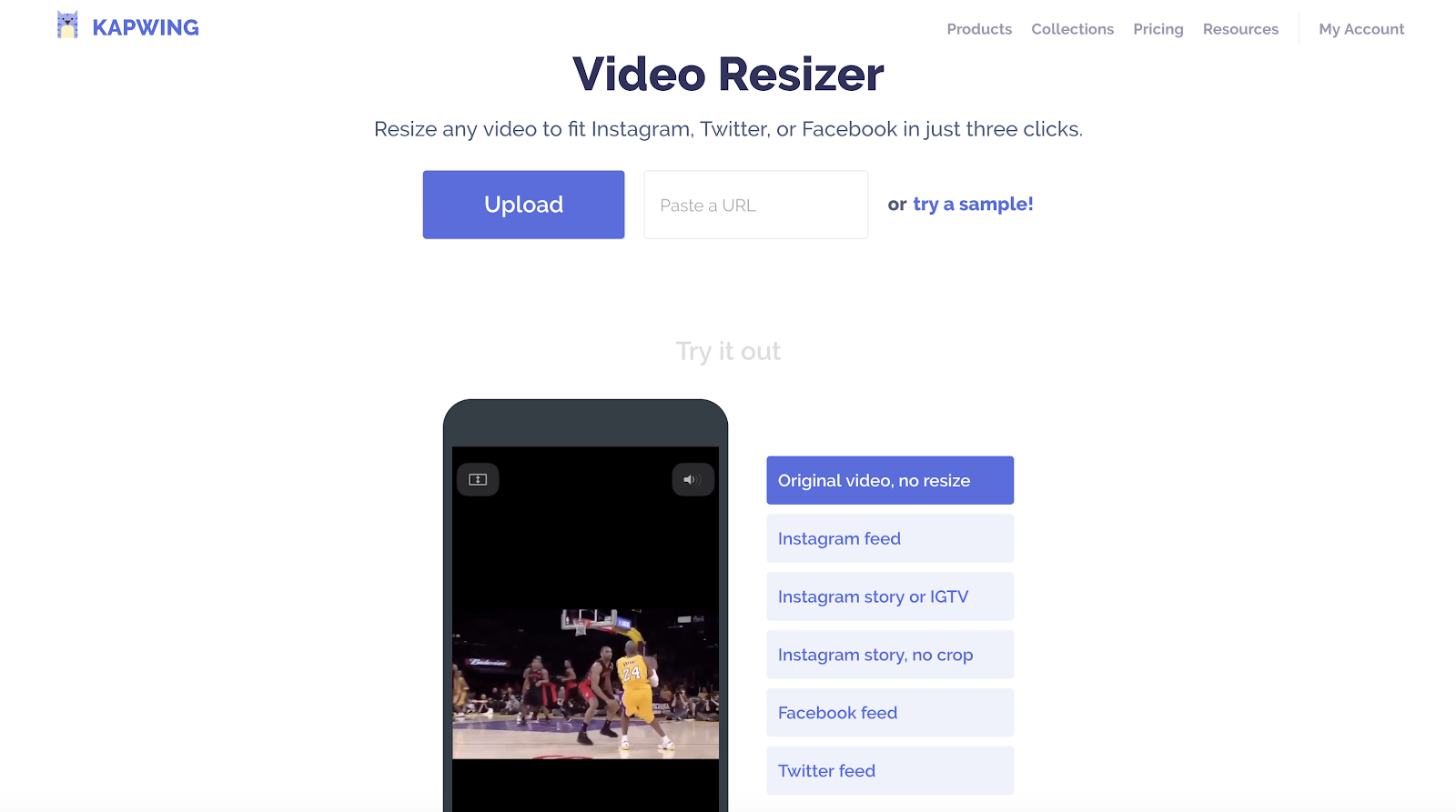 Size your video for social media