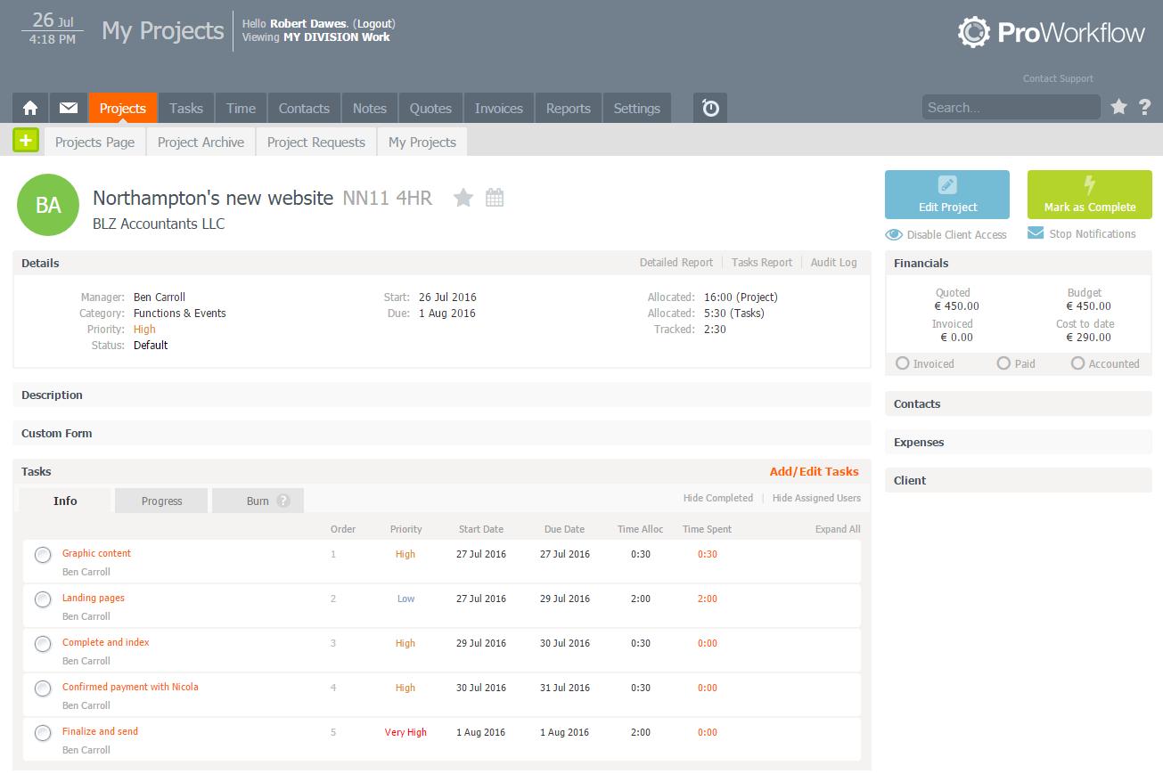 ProWorkFlow Screenshot