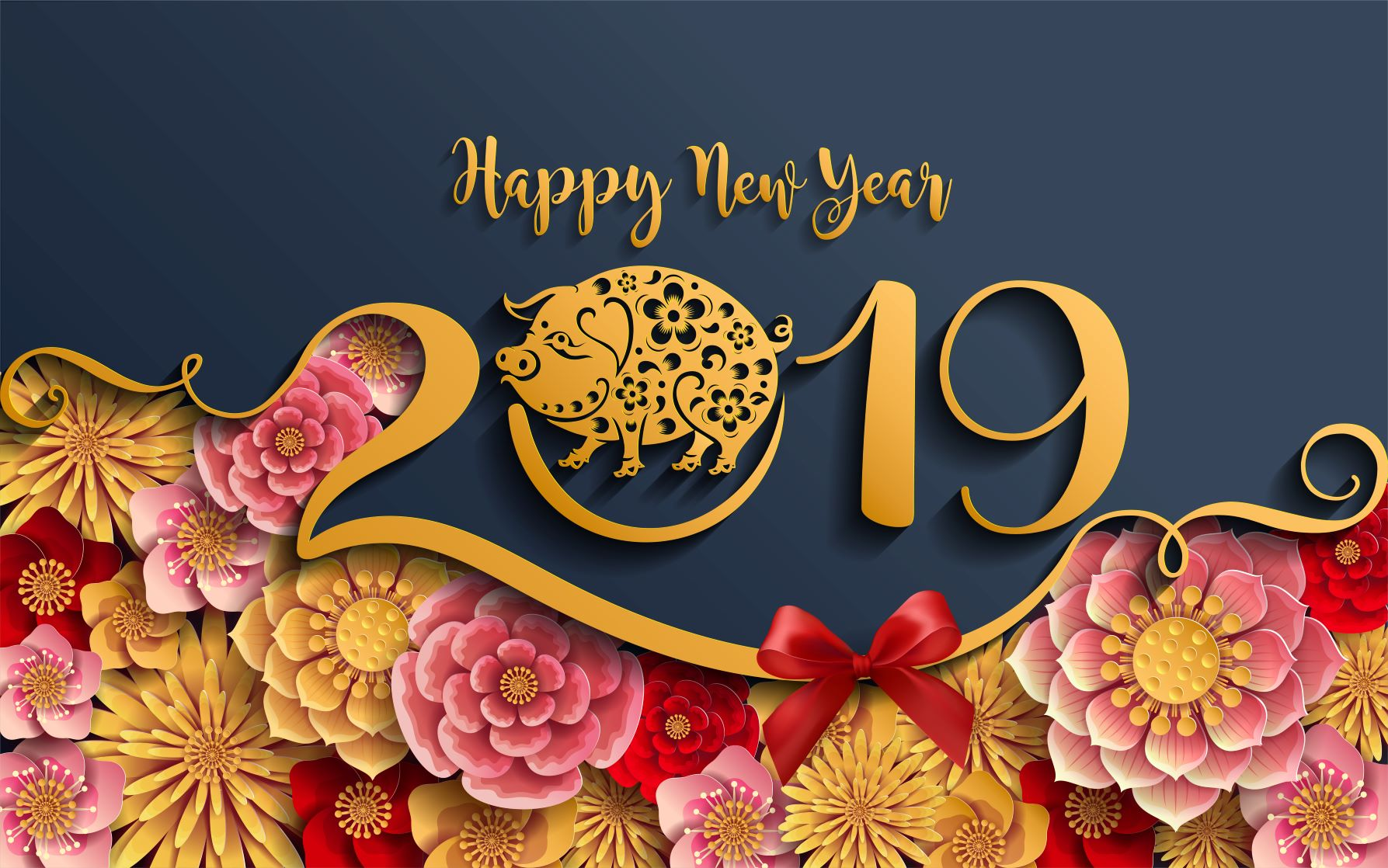 Happy Chinese New Year 2019 - Year of the pig